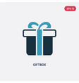 two color giftbox icon from web navigation vector image