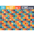 vol 2 flat big collection set icons of medical vector image vector image