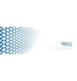 white banner with blue triangle halftone pattern vector image vector image