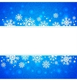 winter frame with snowflakes and highlights vector image vector image