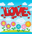 word love theme image 2 vector image vector image
