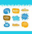 set of label for milk butter and cheese vector image