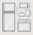 Kitchen Line Icon vector image