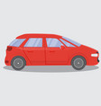 red car flat style concept vector image