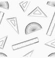 geometry set for mathematics seamless pattern vector image