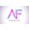 af lines warp logo design letter icon made with vector image vector image