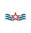 America Star USA logo icon vector image vector image