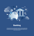 banking template web banner with copy space money vector image