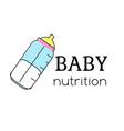 banutrition logo template bottle sign label vector image vector image