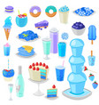 blue food bluish cake with blueberry and vector image vector image