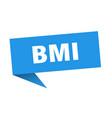 bmi speech bubble bmi ribbon sign bmi banner vector image vector image