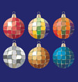 brilliant multi-colored christmas toys vector image