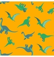 Cartoon dinosaurs pattern vector image
