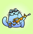 cat the mercenary professional will carry out vector image vector image