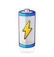 charging energy status accumulator vector image vector image