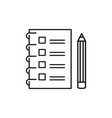 checklist with a pencil to do list outline icon vector image vector image