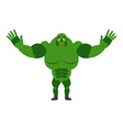 Cheerful ogre spread his arms in an embrace Good vector image