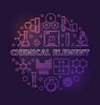 chemical element colored round outline vector image vector image