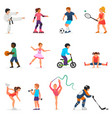 child in sport boy or girl character vector image