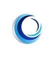 circle wave logo sphere symbol icon design vector image vector image