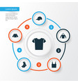clothes icons set collection of trilby casual vector image