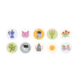 collection round childish tag sticker design vector image