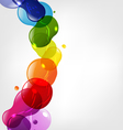 Color Splotch border vector image