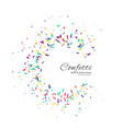 confetti frame celebration background vector image