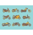 different type motorcycles icons vector image