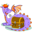 dragon and treasure vector image