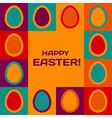 Easter card with eggs border vector image vector image