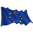 eu flag vector image vector image