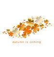 fall hot color natural decorative design vector image vector image