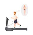 fat man wearing fitness apparel running vector image vector image