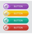 flat buttons with target icon vector image vector image