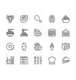food and restaurant icons vector image