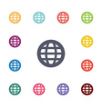 globe flat icons set vector image vector image