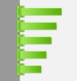 Green folded paper navigation menu backgrounds vector image vector image