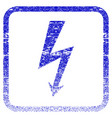 high voltage framed textured icon vector image vector image