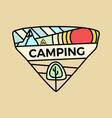 hiking camping logo emblem template adventure vector image vector image