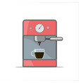 isolated outline coffee machine vector image vector image
