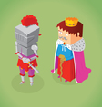 isometric king and knight vector image vector image
