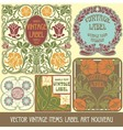 Label art nouveau vector | Price: 1 Credit (USD $1)