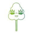 line kawaii cute happy natural tree vector image vector image