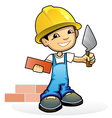mason with trowel vector image vector image