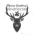 Merry Christmas and Happy New Year 2017 typography vector image vector image