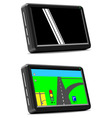 Modern auto GPS navigation system vector image vector image