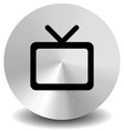 modern icon with television symbol with antenna vector image