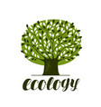 Nature ecology forest logo or label abstract