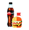 new soda and burger vector image vector image